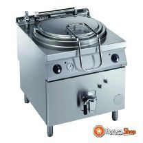 Elektrische kookketel 150 liter, indirecte verwarming, op meubel