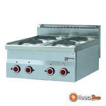 Elektrisch fornuis 4 kookplaten -top-