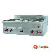 Elektrisch fornuis 5 kookplaten -top-