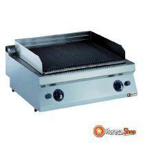 Gas lavasteengrill, rooster in gietijzer 1 mod. -top-